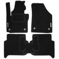 Коврики в салон для Volkswagen Touran '03-15 текстильные, черные (Стандарт) 4 клипсы