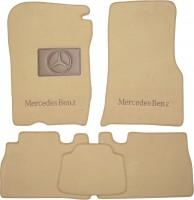 Коврики в салон для Mercedes ML-Class W163 '98-05 текстильные, бежевые (Премиум)