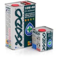 XADO Atomic Oil 10W-40 CI-4 Diesel, (ж/б  1 л) квадр.