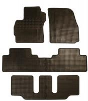 Коврики в салон для Mazda 5 '10- резиновые, черные (Rigum) 1+2+3 ряд