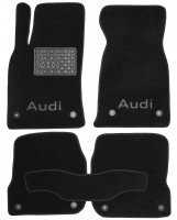 Коврики в салон для Audi A6 '97-05 текстильные, черные (Люкс) 8 клипс
