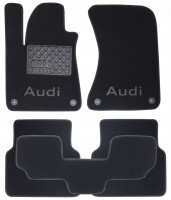 Textile-Pro Коврики в салон для Audi A8 '10- текстильные, черные (Премиум) 4 клипсы