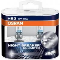 Автомобильная лампочка Osram Night Breaker Unlimited HB3 12V (комплект: 2шт)