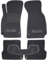 Коврики в салон для Audi A4 '00-05 текстильные, серые (Люкс) 8 клипс