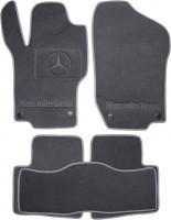 Коврики в салон для Mercedes GL-Class X164 '06-11 текстильные, серые (Люкс) 4 клипсы