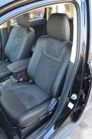 Фото товара 2 - Авточехлы Leather Style для салона Mitsubishi Outlander '12- (MW Brothers)