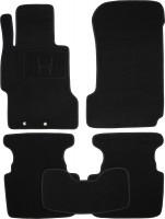 Коврики в салон для Honda Accord 7 '03-08 текстильные, черные (Премиум)