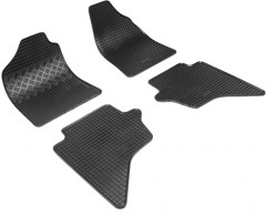 Коврики в салон для Mazda BT-50 '07- резиновые, черные (Rigum)