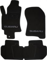 Коврики в салон для Subaru Tribeca '04-07 текстильные, черные (Люкс)