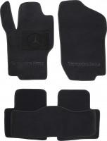 Коврики в салон для Mercedes GL-Class X164 '06-11 текстильные, черные (Премиум)