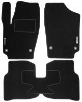 Коврики в салон для Volkswagen Polo '10-, седан текстильные, черные (Стандарт) 4 клипсы