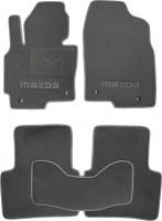 Коврики в салон для Mazda CX-5 '12-17 текстильные, серые (Люкс) 4 клипсы