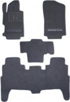 Коврики в салон для Honda FR-V '04-09 текстильные, серые (Люкс)