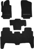 Коврики в салон для Honda FR-V '04-09 текстильные, черные (Люкс)