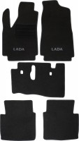 Коврики в салон для Lada (Ваз) Niva 2121 '94-06 3 дв. текстильные, черные (Люкс)