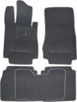 Коврики в салон для Mercedes S-class W220 '98-05 текстильные, серые (Люкс) Long