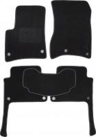 Коврики в салон для Audi Q7 '05-14 текстильные, черные (Милан) 8 клипс