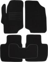 Коврики в салон для Peugeot 301 '12- текстильные, черные (Милан)