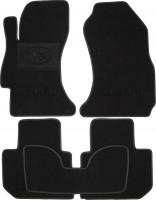 Коврики в салон для Subaru Impreza '12-16 текстильные, черные (Милан)