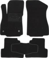 Коврики в салон для Chevrolet Tracker '13- текстильные, черные (Милан) 2 клипсы