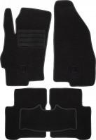 Коврики в салон для Fiat Linea '07-15 текстильные, черные (Милан)