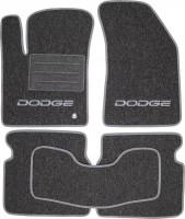 Коврики в салон для Dodge Avenger '07-13 текстильные, серые (Милан)