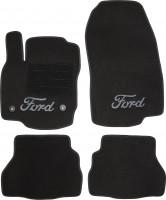 Коврики в салон для Ford B-Max '12- текстильные, черные (Люкс) 2 клипсы