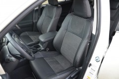 Авточехлы Leather Style для салона Toyota RAV4 '13- 2. 5 бензин / 2. 2 дизель (MW Brothers)