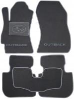 Коврики в салон для Subaru Outback '09-14 текстильные, серые (Люкс)