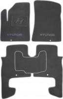 Коврики в салон для Hyundai Santa Fe '06-10 CM текстильные, серые (Премиум)