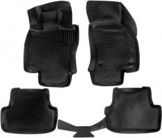 Коврики в салон 3D для Audi A3 '12-, хетчбэк полиуретановые, черные (L.Locker)