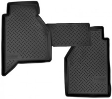 Коврики в салон для Nissan Navara '05-09 полиуретановые, черные (Nor-Plast) задние