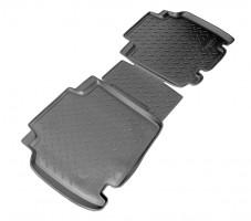 Коврики в салон для Renault Kangoo '09- полиуретановые, черные (Nor-Plast) задние