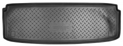 Коврик в багажник для Kia Mohave '09- (7 мест, короткий), резино/пластиковый (Norplast)