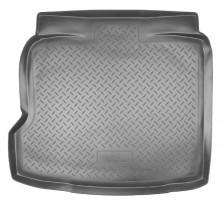 Коврик в багажник для Opel Vectra C '02-08 седан/хетчбек, резино/пластиковый (Norplast)