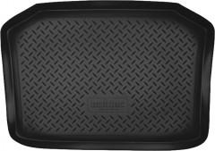 Коврик в багажник для Volkswagen Polo '02-09 хетчбэк, резино/пластиковый (NorPlast) черный