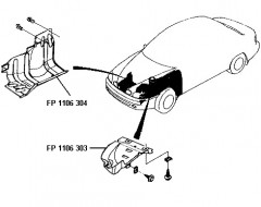Брызговик подкрылка передний правый Daewoo Lanos '98- (FPS)