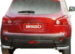 Метал. защита заднего бампера для Nissan Qashqai '07-on