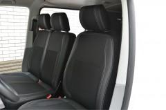 Авточехлы Premium для салона Volkswagen Transporter T5 '10-15 (1+2) серая строчка (MW Brothers)