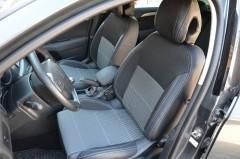 Авточехлы Premium для салона Citroen C4 '11- серая строчка с регулируемыми подголовниками (MW Brothers)