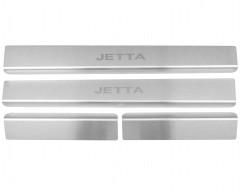 Накладки на пороги для Volkswagen Jetta VI '11- (Standart)