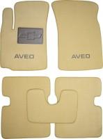 Коврики в салон для Chevrolet Aveo '04-11 текстильные, бежевые (Премиум)