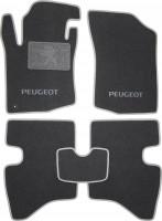 Коврики в салон для Peugeot 107 '05-14 текстильные, серые (Люкс) 1 клипса