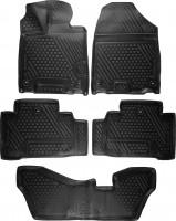 Коврики в салон для Acura MDX '14- полиуретановые, черные (Novline) 3D 1+2+3 ряд