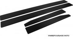 Накладки на пороги карбон для Citroen C2 '03-10 хэтчбек (Premium+k)