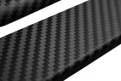Фото 2 - Накладки на пороги карбон для Geely MK '08- (Premium+k)