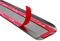 Фото 3 - Накладки на пороги карбон для Honda Civic '06-11 хэтчбек (Premium+k)