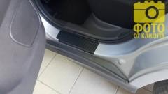 Фото 5 - Накладки на пороги карбон для Mitsubishi ASX '10- (Premium+k)