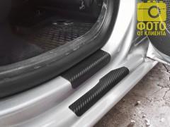 Фото 5 - Накладки на пороги карбон для Seat Ibiza '08- хэтчбек 5 дв. (Premium+k)