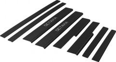Накладки на пороги карбон для Skoda Octavia A7 '13- (Premium+k)